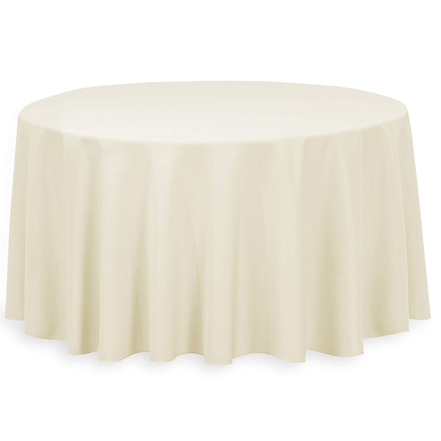 IVORY LINEN ROUND TABLECLOTH (3.3 M DIA.)  $20+GST