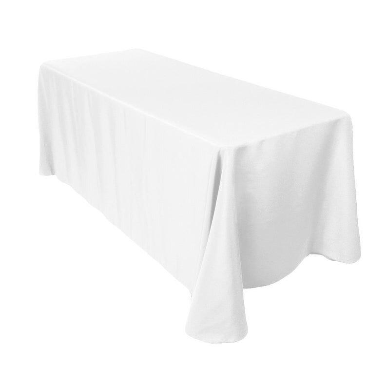 WHITE LINEN TRESTLE TABLECLOTH (2.4 W X 3 M L)  $20+GST