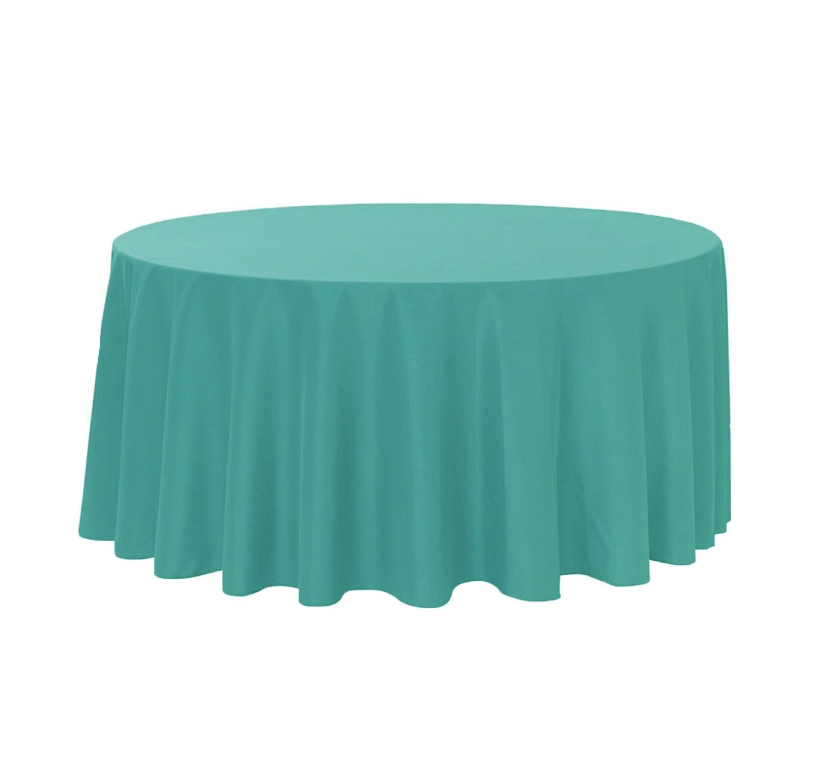 TEAL LINEN ROUND TABLECLOTH (3.3 M DIA.)  $20+GST