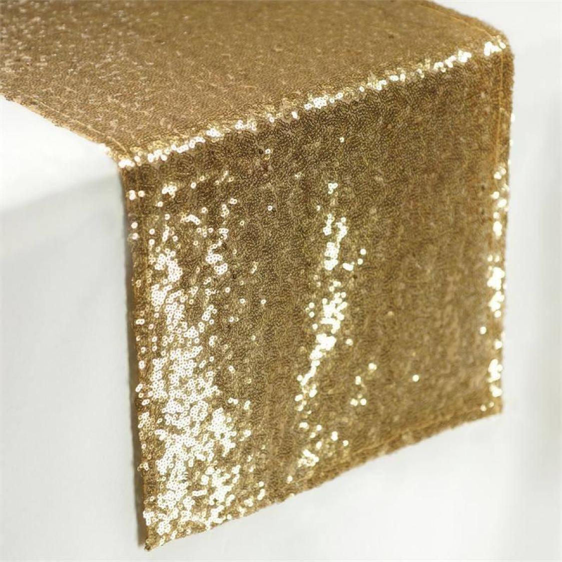 GOLD SEQUIN TABLE RUNNER (2.4 M L)  $12+GST