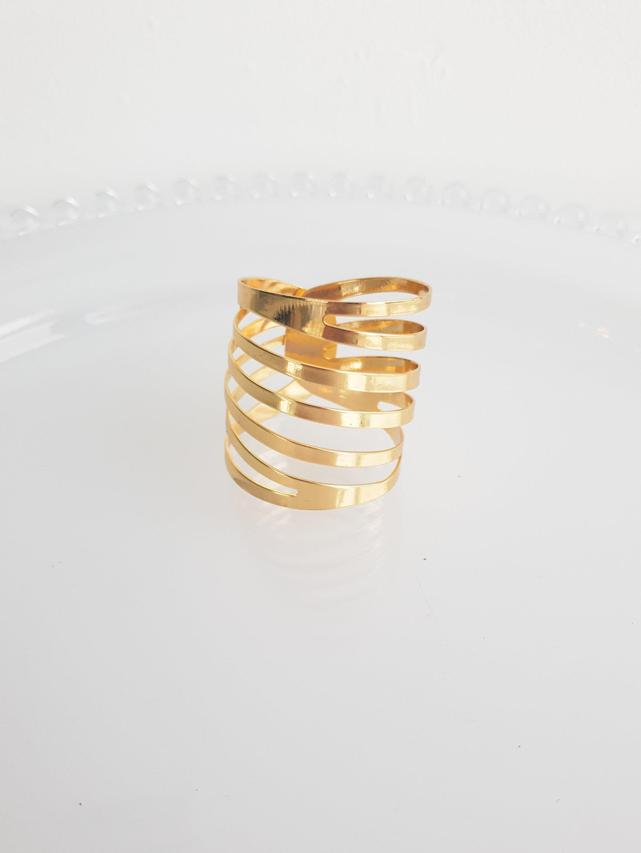 GOLD MODERN NAPKIN RING  $1.50+GST