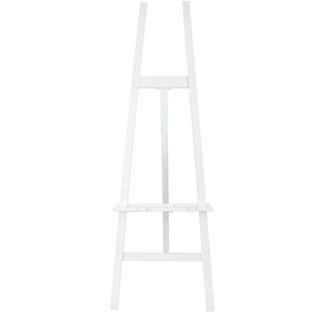 WHITE WOODEN EASEL  $30+GST