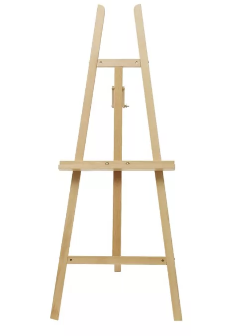 NATURAL WOODEN EASEL  $30+GST
