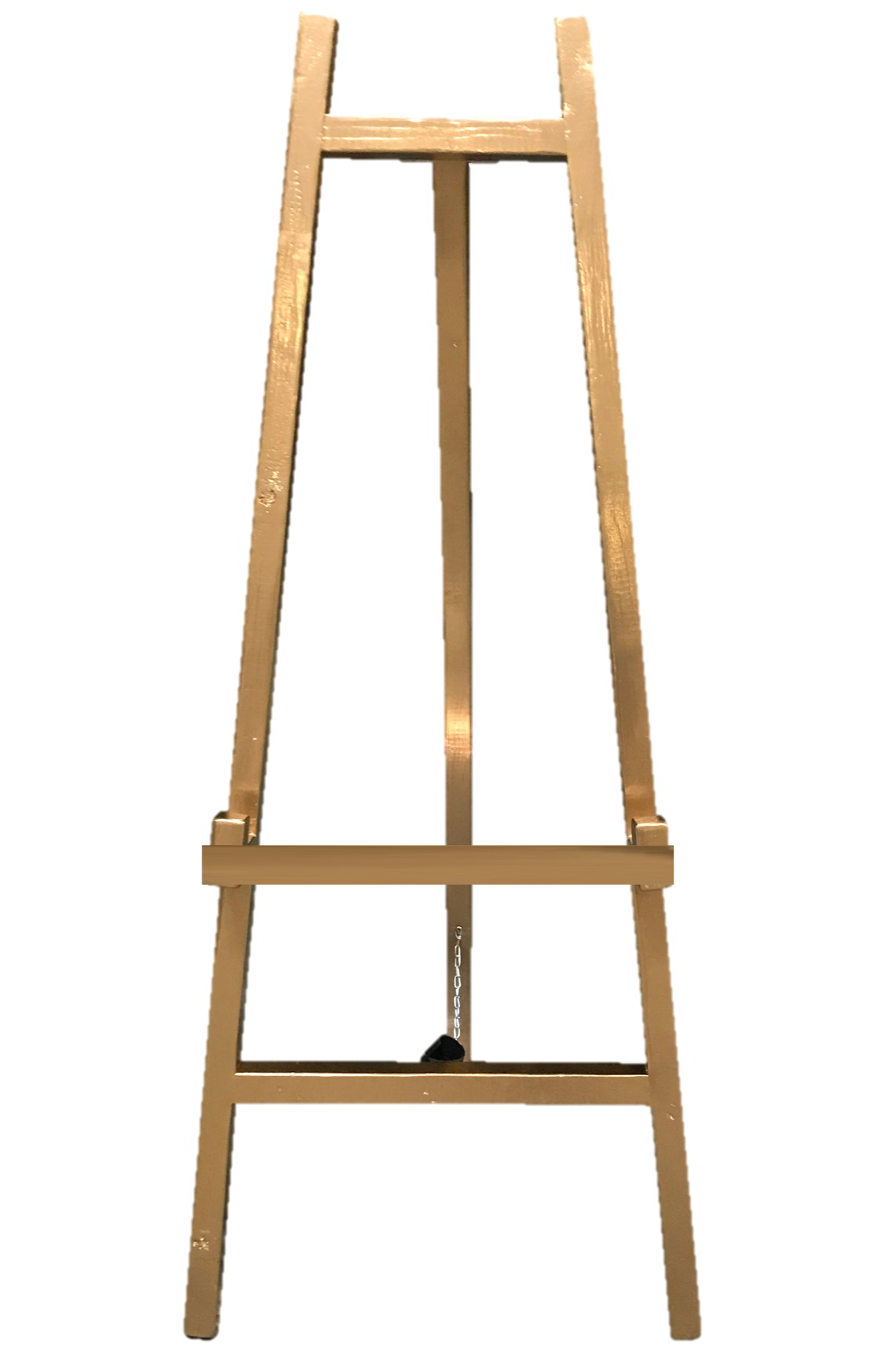 GOLD WOODEN EASEL  $30+GST