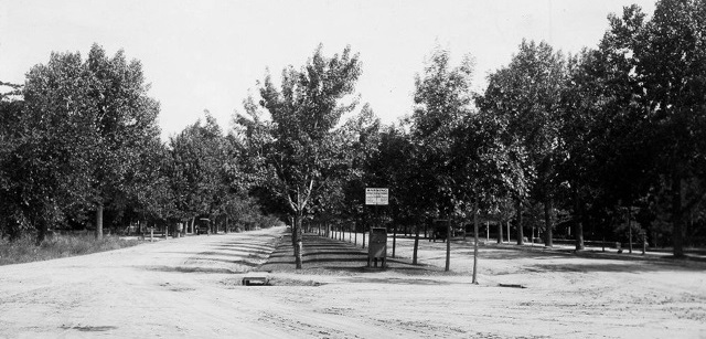 Looking North on Nevada Avenue from Uintah Street  (Posted sign says, 'No Heavy Teaming')