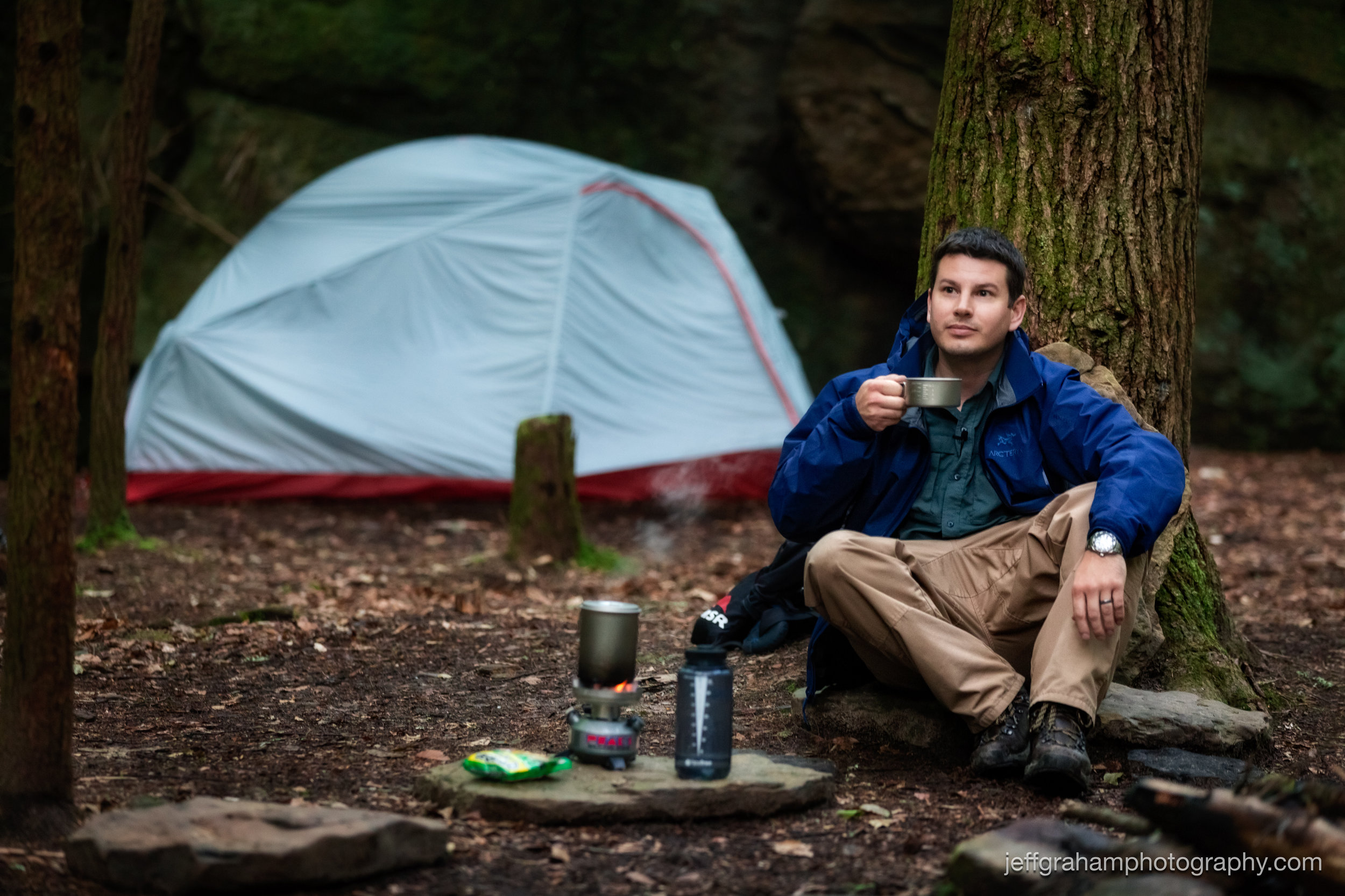 Can't start the day without a cup of coffee, even in the middle of nowhere!