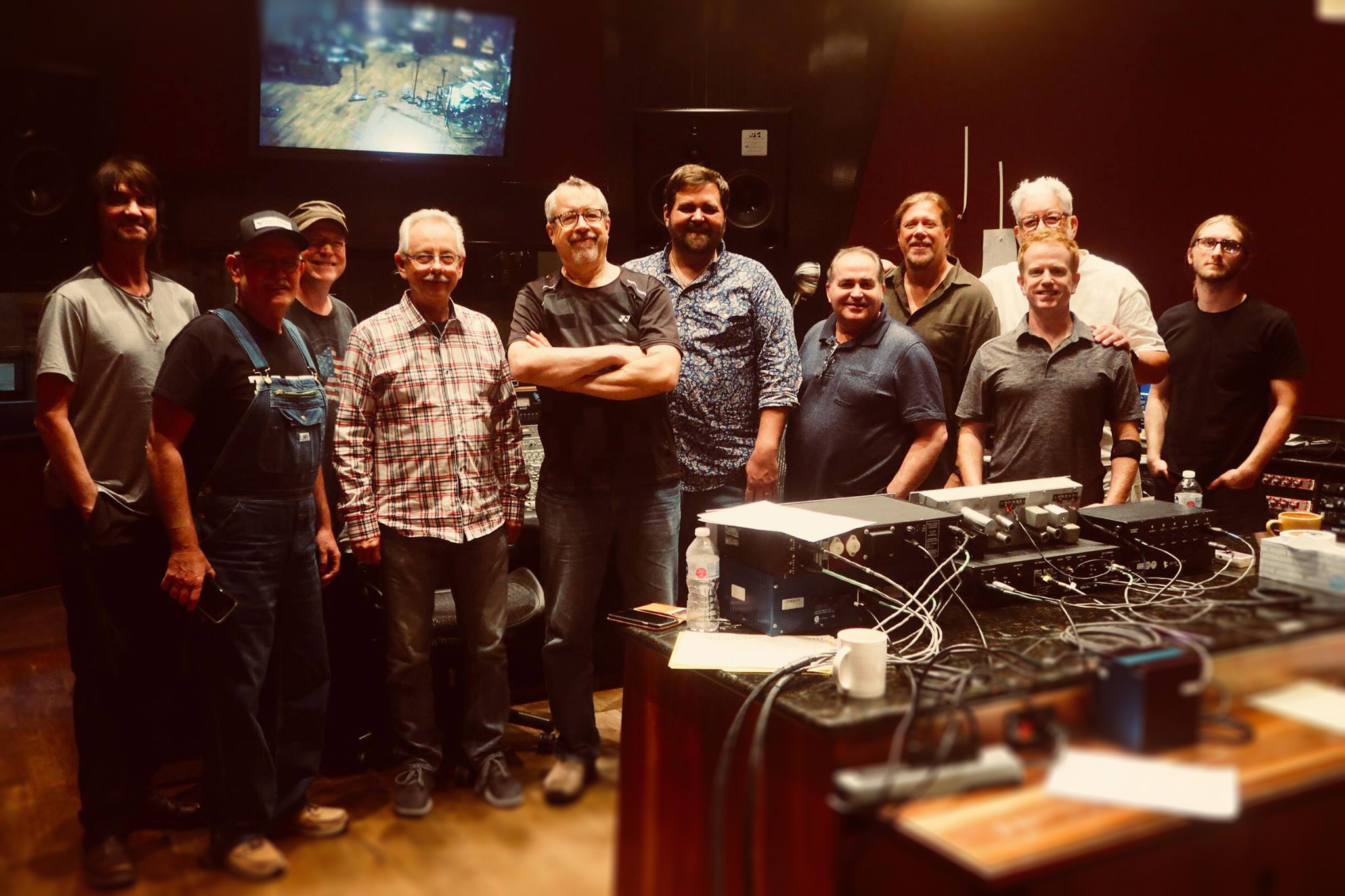 """At the famed Blackbird Studios in Nashville recording """"Now We're Gettin' Somewhere"""""""