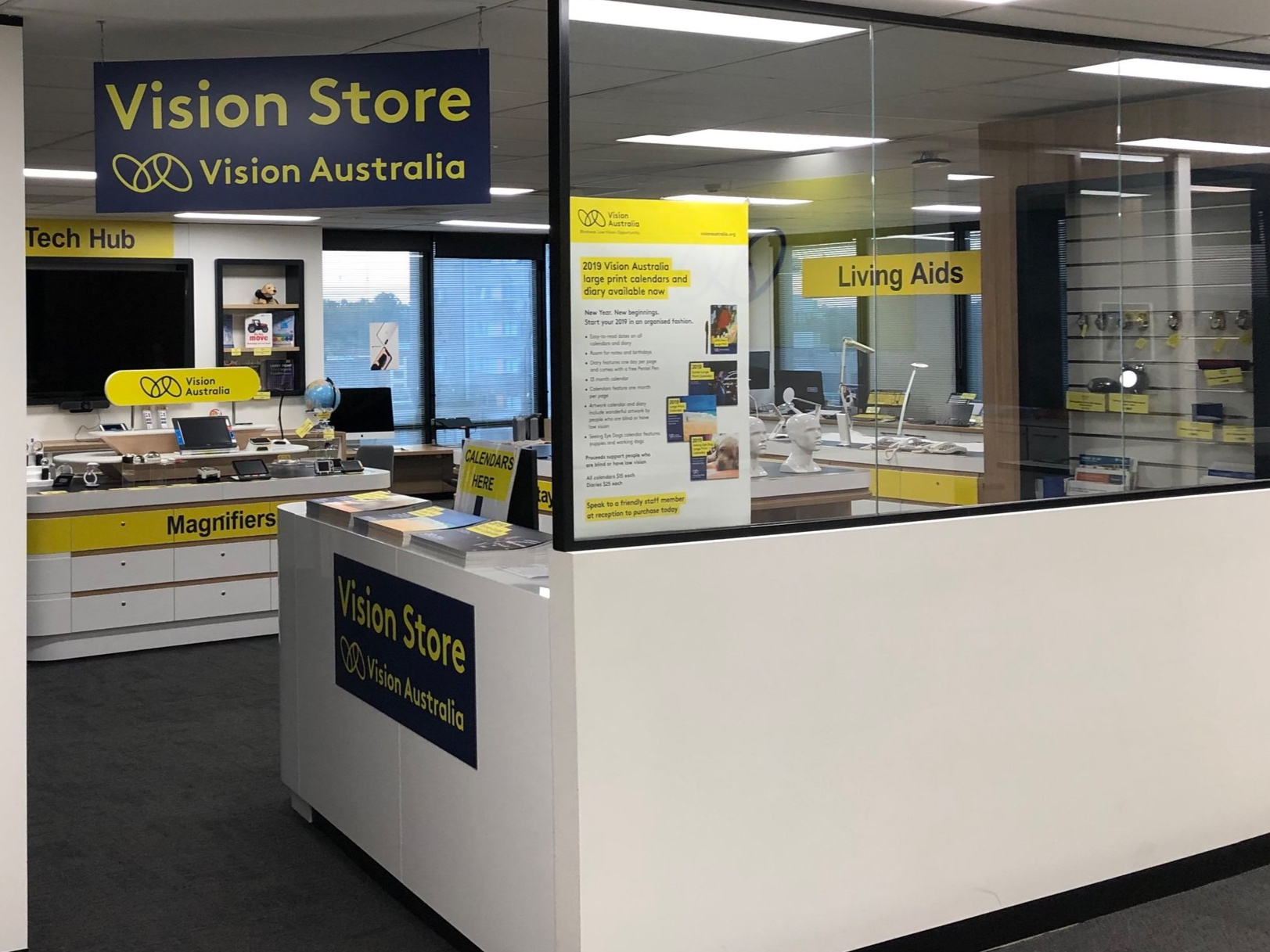 The Vision Store at Vision Australia Parramatta. Now totally findable thanks to BindiMaps and Vision Australia.