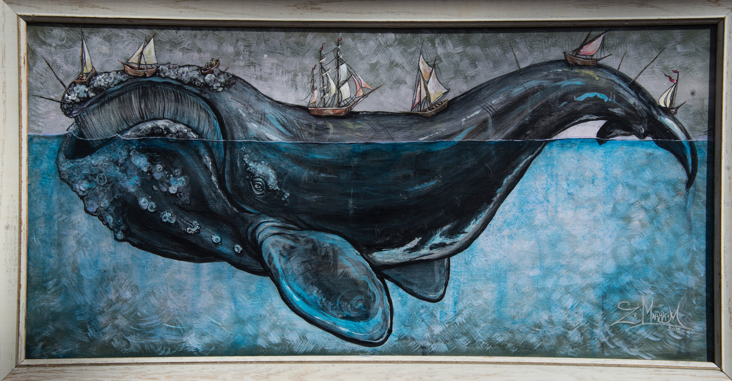 """""""Right Whale & Ships"""" 2017"""