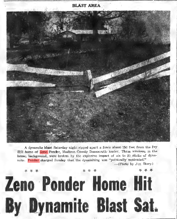 From the News Record-Sentinel, shortly after Zeno's contested state senate race in 1964.