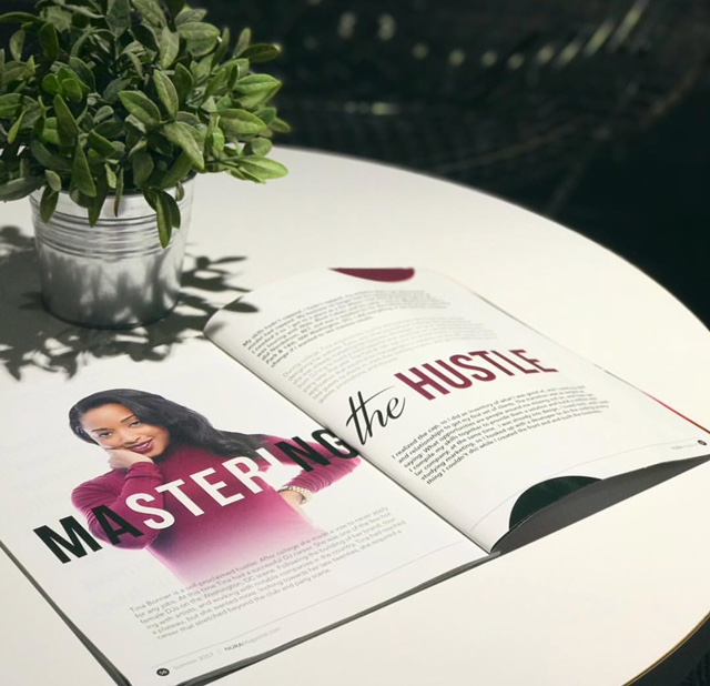 tina b reading magazine