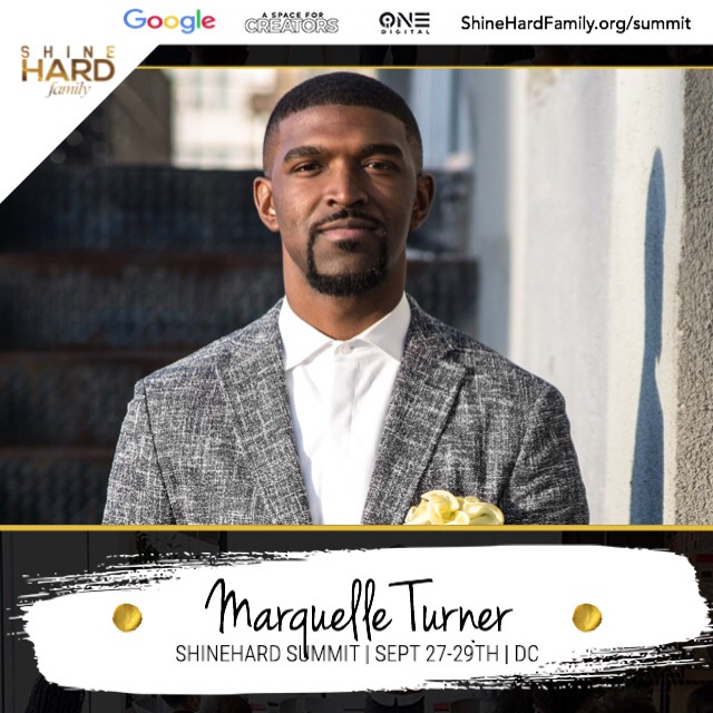 """🚨New speaker alert!🚨 Meet @MarquelleTurner. He is an international scholar and mens fashion expert.  Marquelle has worked with some of the biggest luxury brands  in the world. ⠀⠀⠀⠀⠀⠀⠀⠀⠀ -⠀⠀⠀⠀⠀⠀⠀⠀⠀ Hear his story during our panel """"Forging your own path. Black Men redefining success in the digital era""""⠀⠀⠀⠀⠀⠀⠀⠀⠀ ⠀⠀⠀⠀⠀⠀⠀⠀⠀ -⠀⠀⠀⠀⠀⠀⠀⠀⠀ ⠀⠀⠀⠀⠀⠀⠀⠀⠀ This and more at the #ShineHardSummit Have you registered yet? ✨✨✨"""