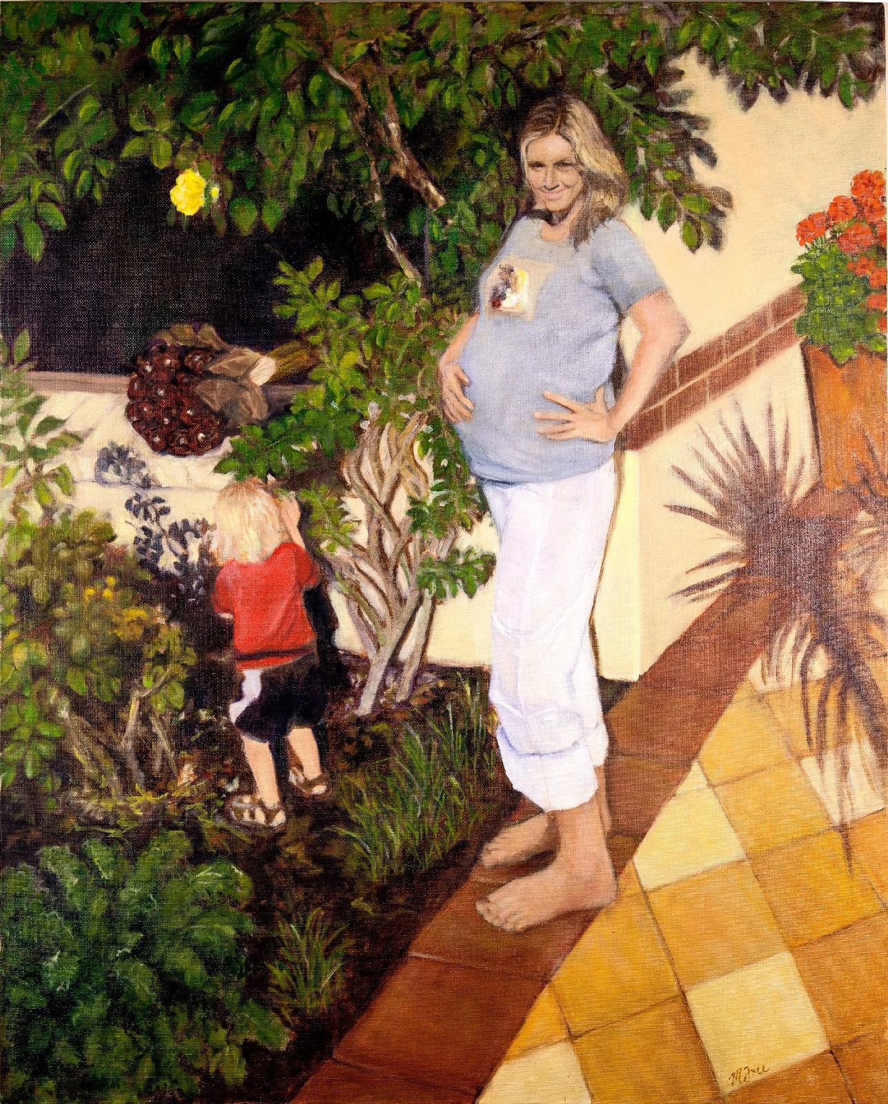 Motherhood  (2014)  Women's Choices Series  Oil on canvas  30 x 24 x 1 inch