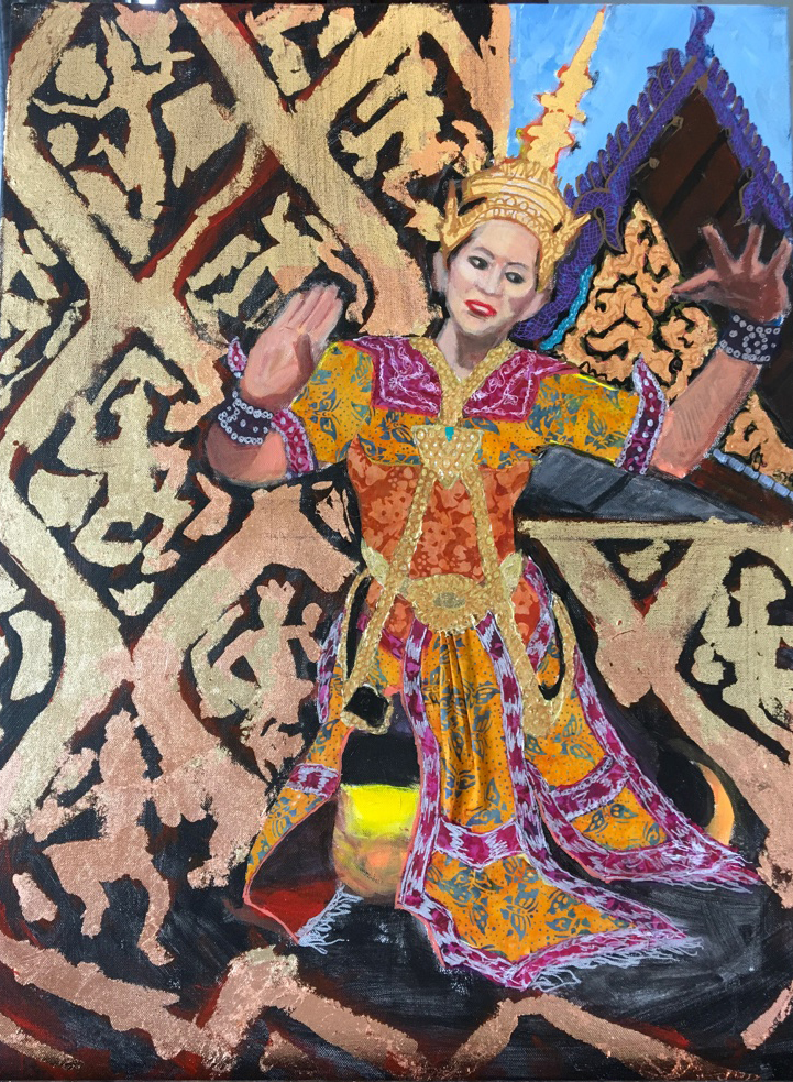 Dancing Queen  Mixed media on canvas   24 x 20 inches  Sold