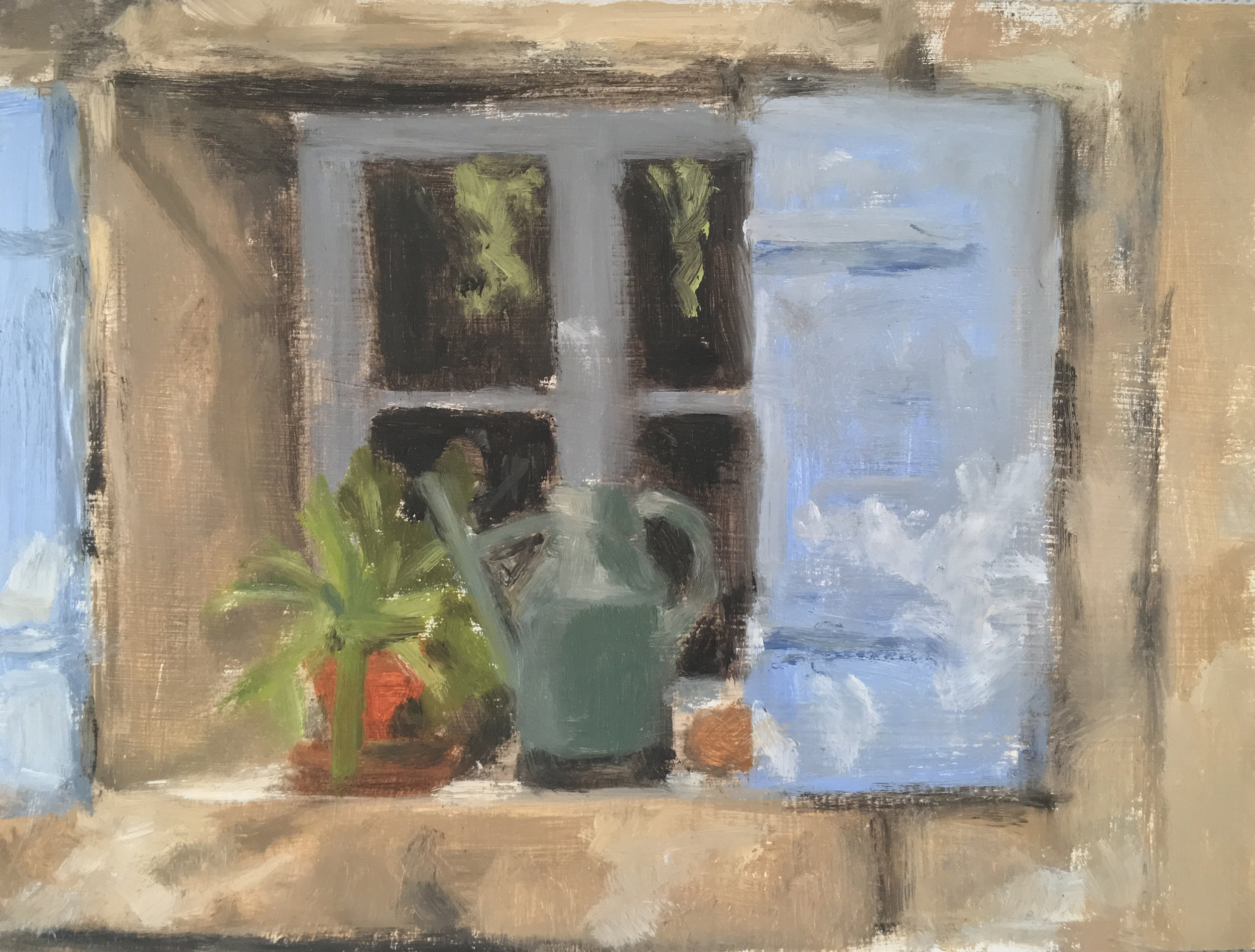 The Kitchen Window  Oil on panel  6 x 8 inch  Available