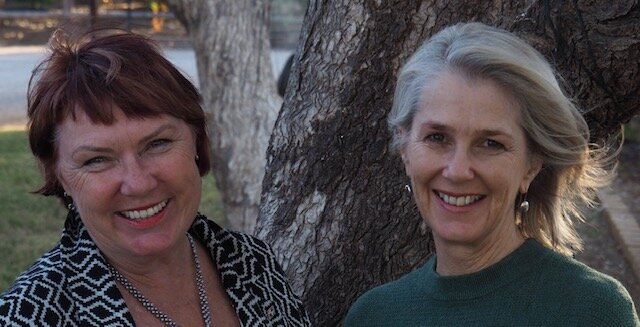 Fiona & Jaye, guest speakers at the 2019 Outback Writers Festival, Winton