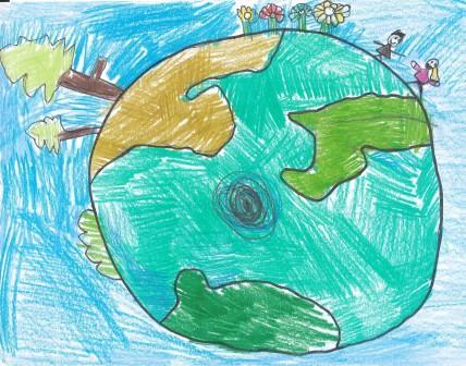 Artist: Emilia Yurasek, age 7, Montessori East.