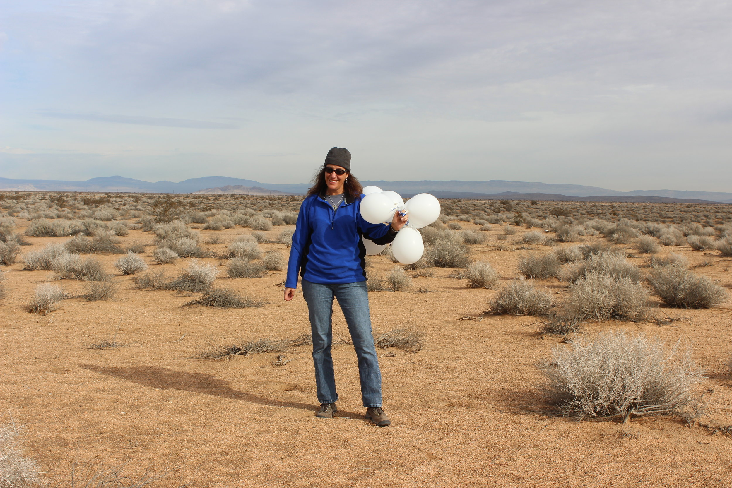 These latex balloons were found on one of our 80-acre parcels in  tortoise habitat