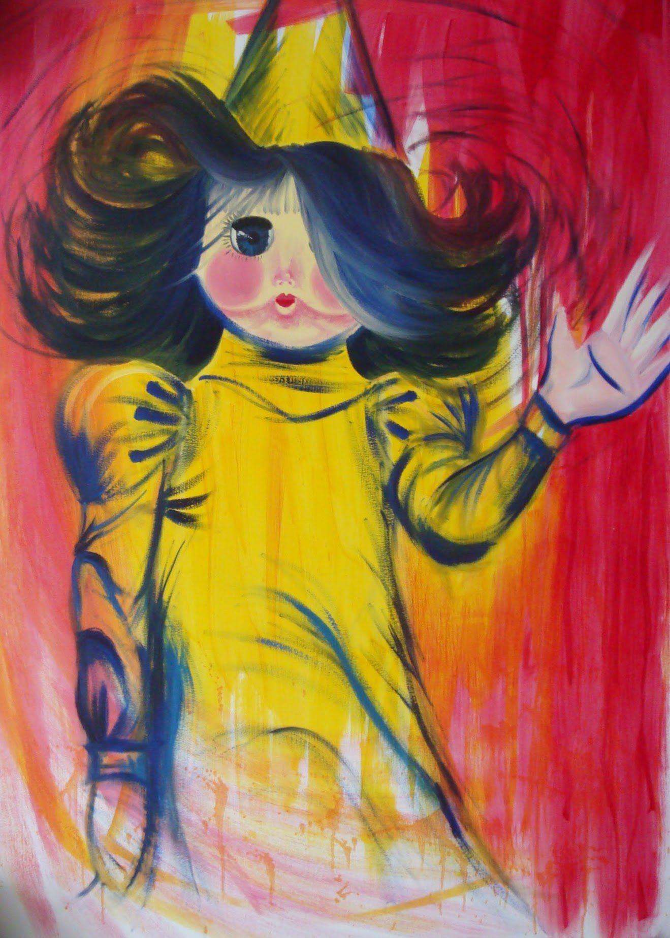 Doll , 2007 oil on paper