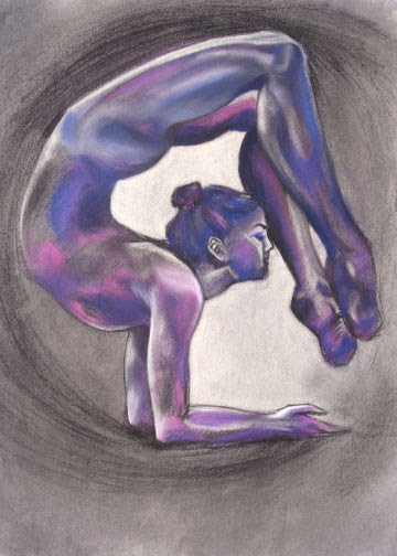 Gymnast  series, 2009 soft pastel on paper