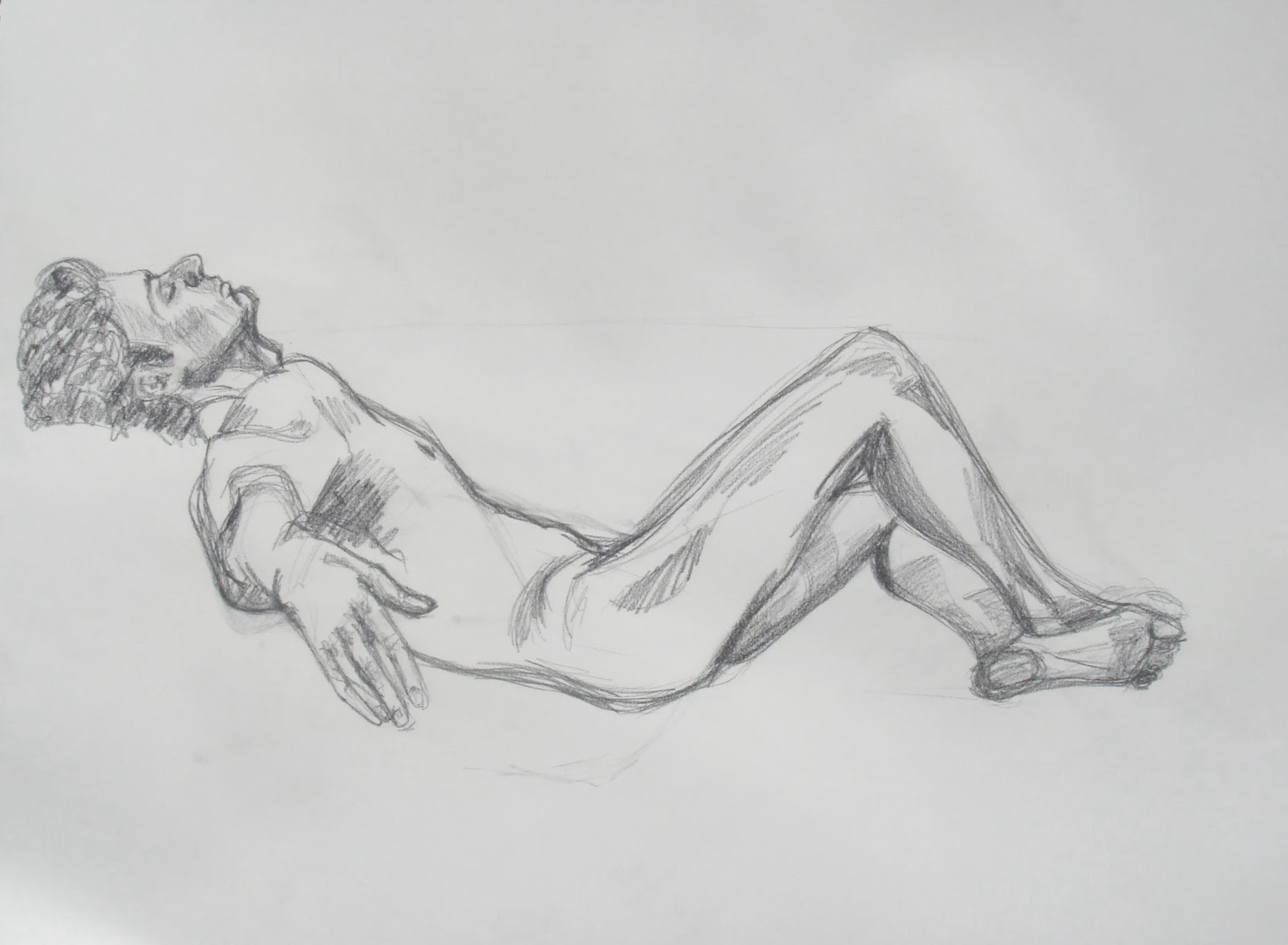 Resting Man 2 , 2009 graphite on paper