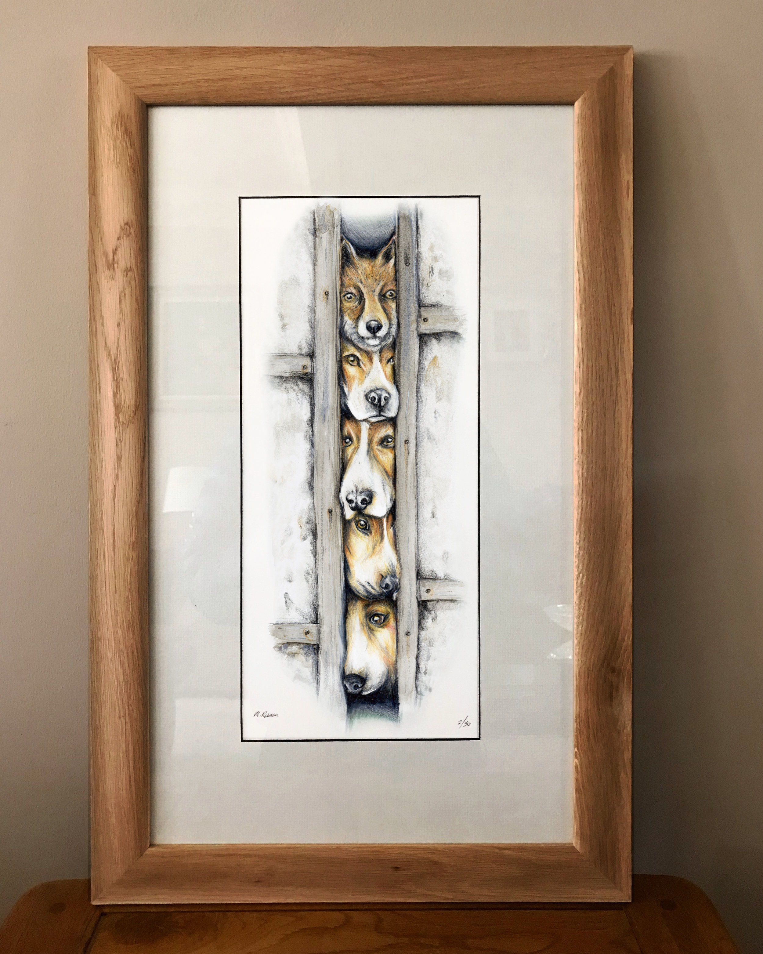 fox and hounds limited edition print.