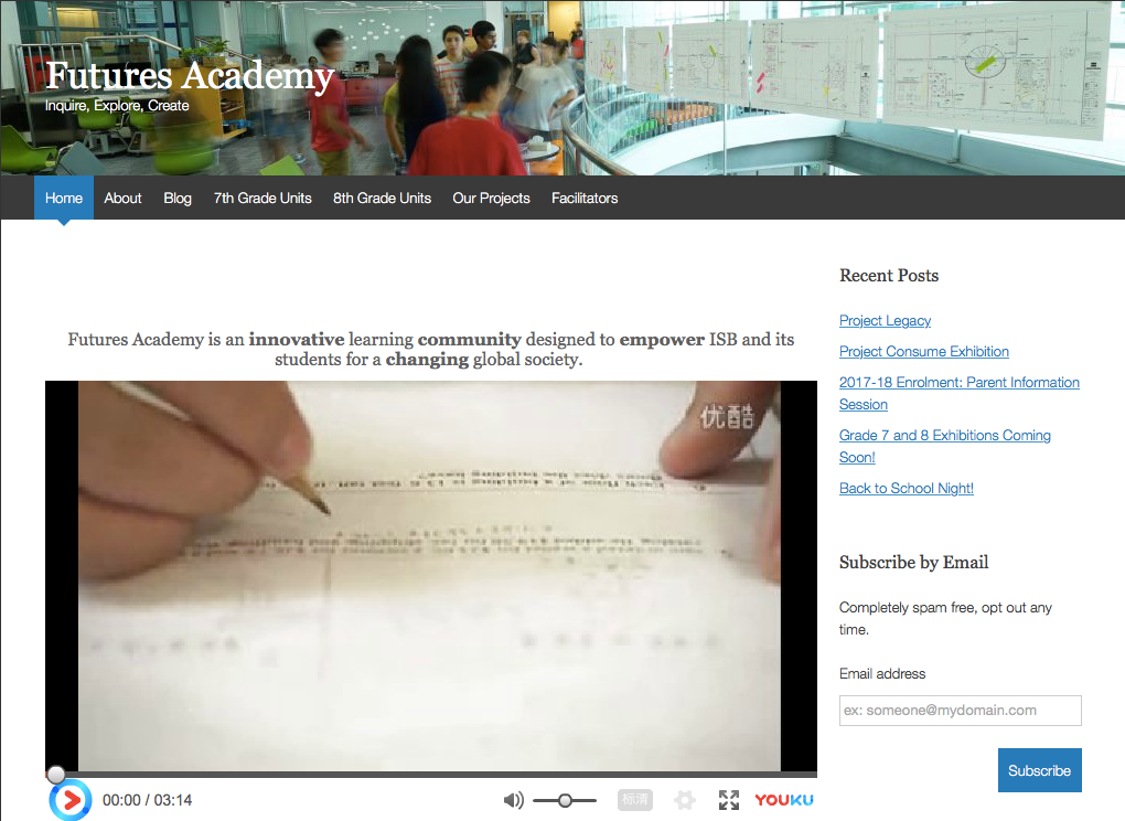 FPR was initiated by an innovative MS learning community for a changing global society - Visit Futures Academy Website