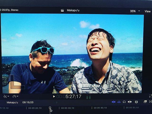 Editing our next video in the Makapu'u Tide Pools. #alohalifenow #makapuutidepools