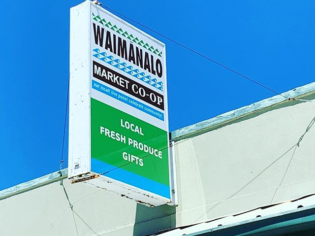 If you're spending the day in Waimanalo, stop by the local Co-op. Lots of nice locally sourced food and products. #waimanalocoop #waimanalomarketcoop #shoplocalhawaii