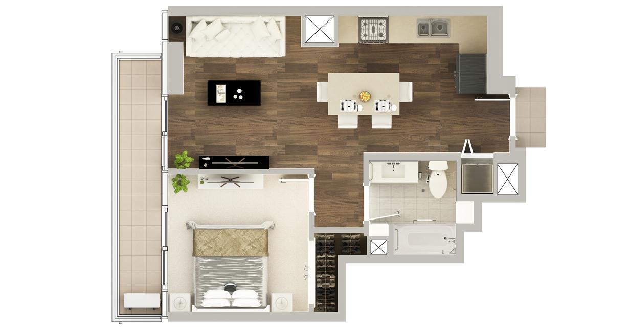 Floor Plan of Residence G-2#