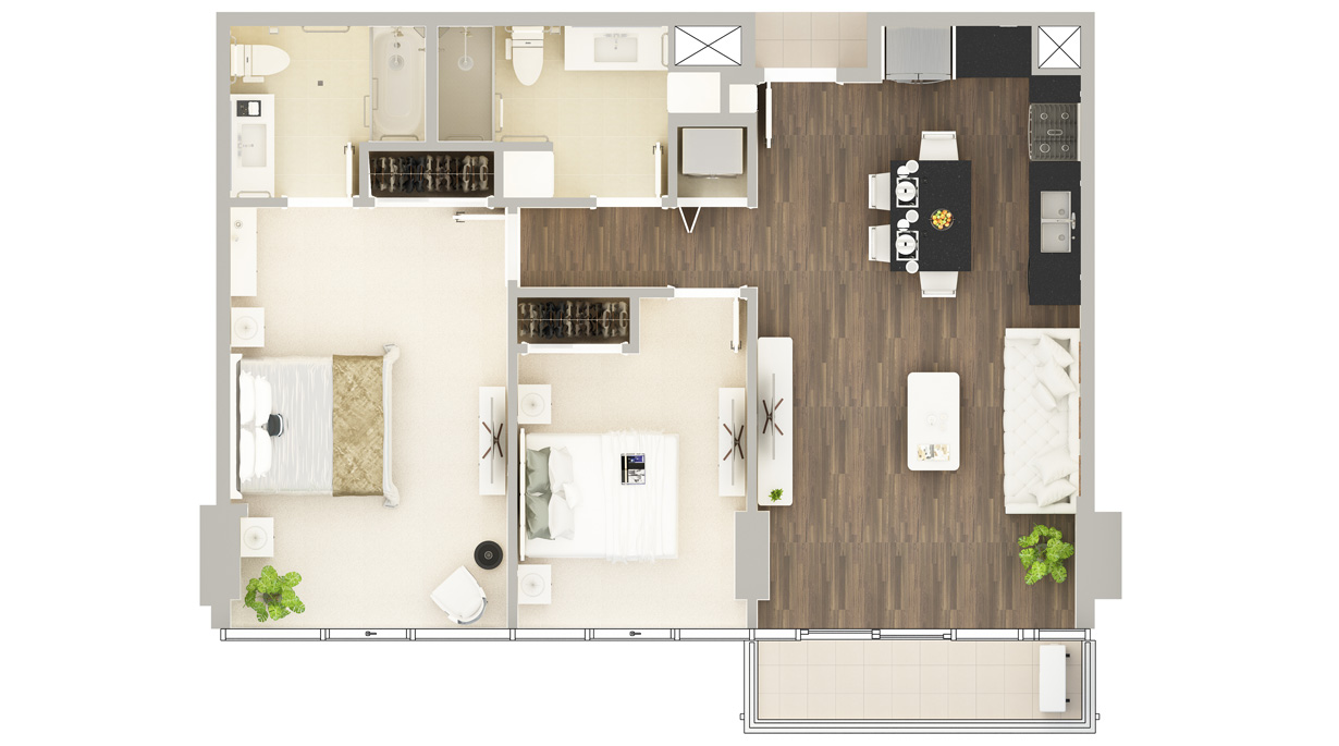 Floor Plan of Residence B-5#