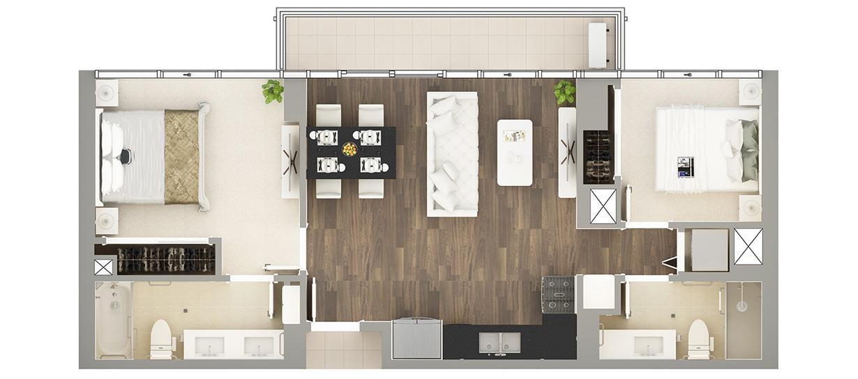 Floor Plan of Residence D-9#