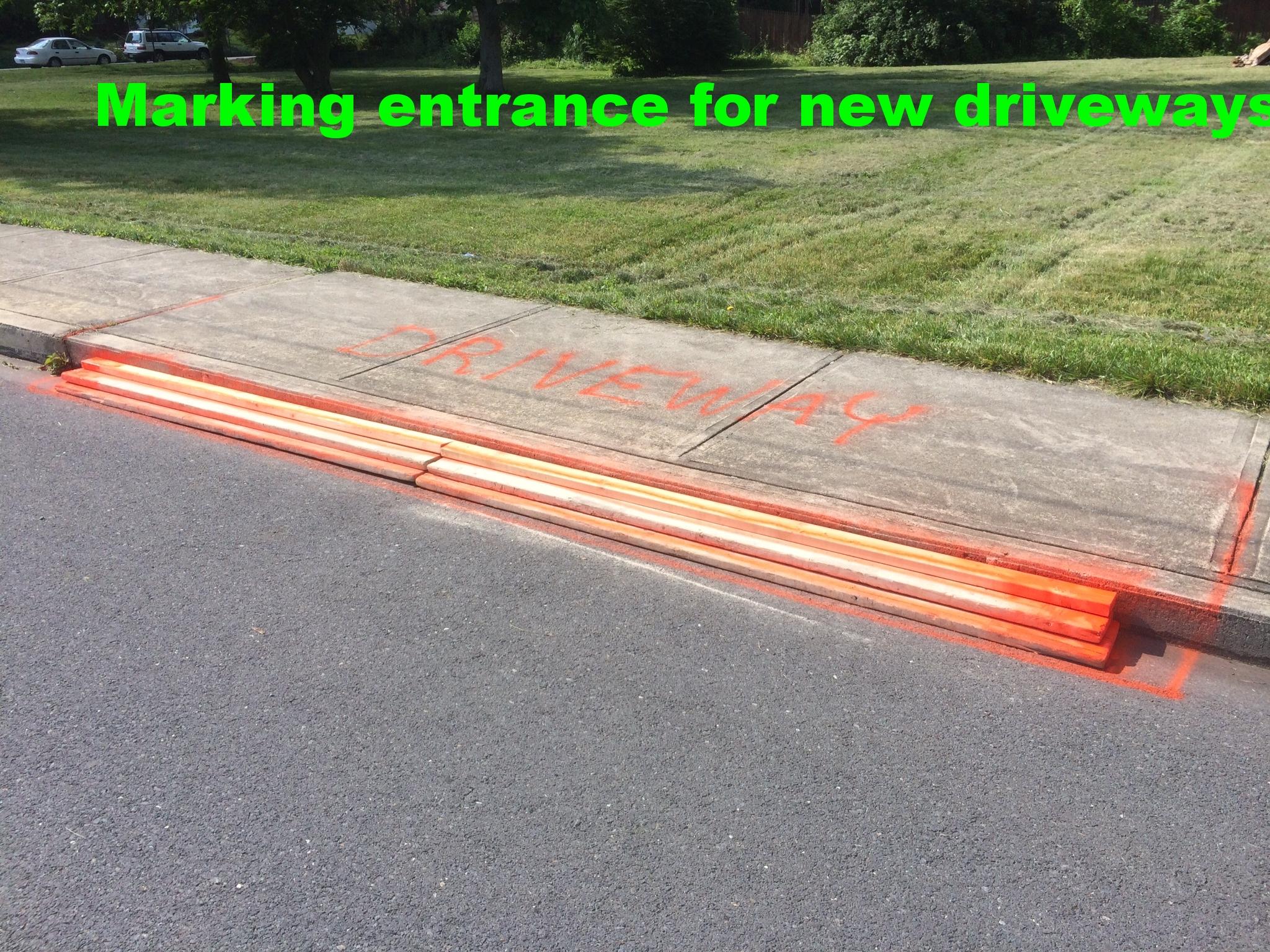 Entrance for new driveways.JPG