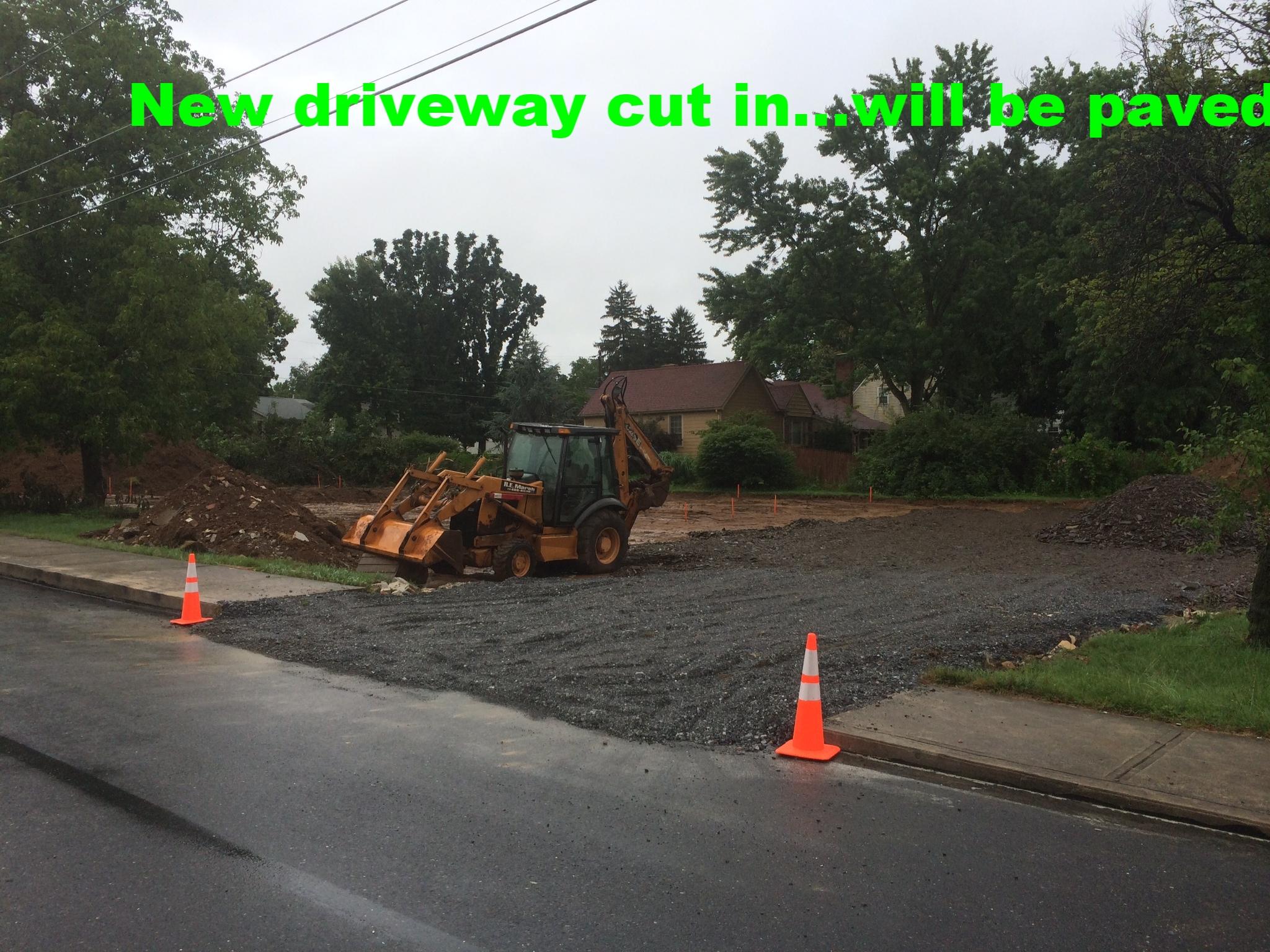 Cutting in new driveways.JPG
