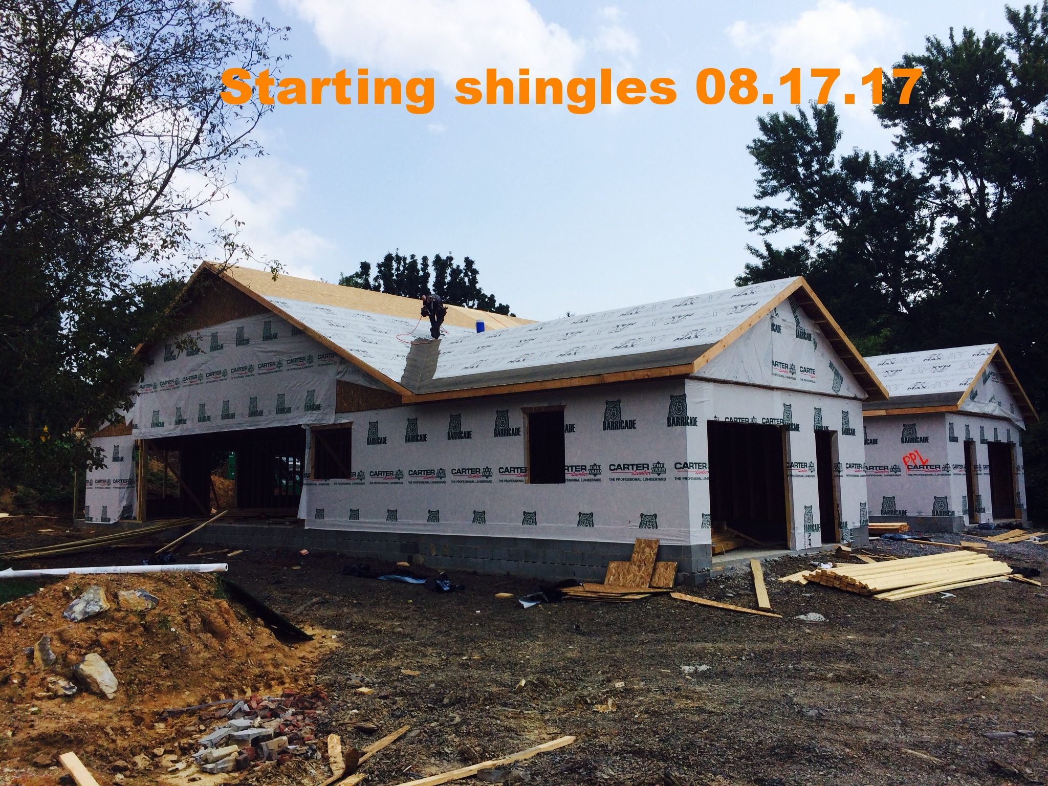 08.17.17 Getting ready for shingles.JPG