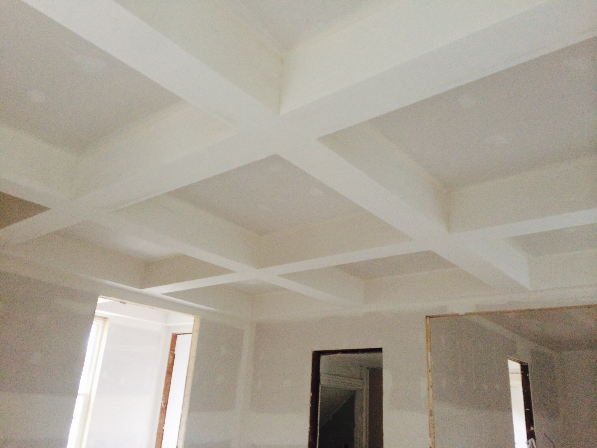 new drywall and coffered ceiling.JPG