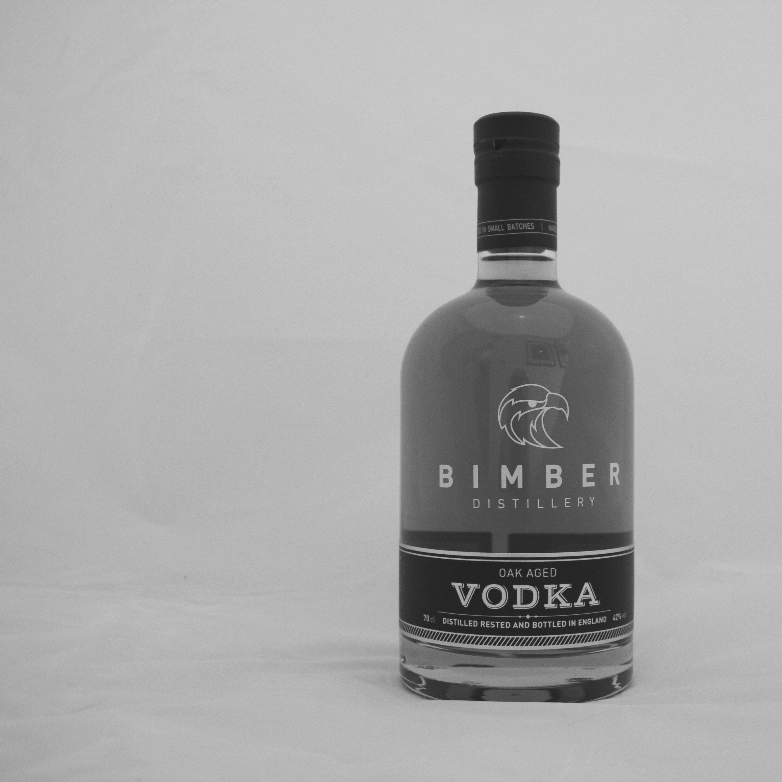 Bimber Aged Vodka bottle