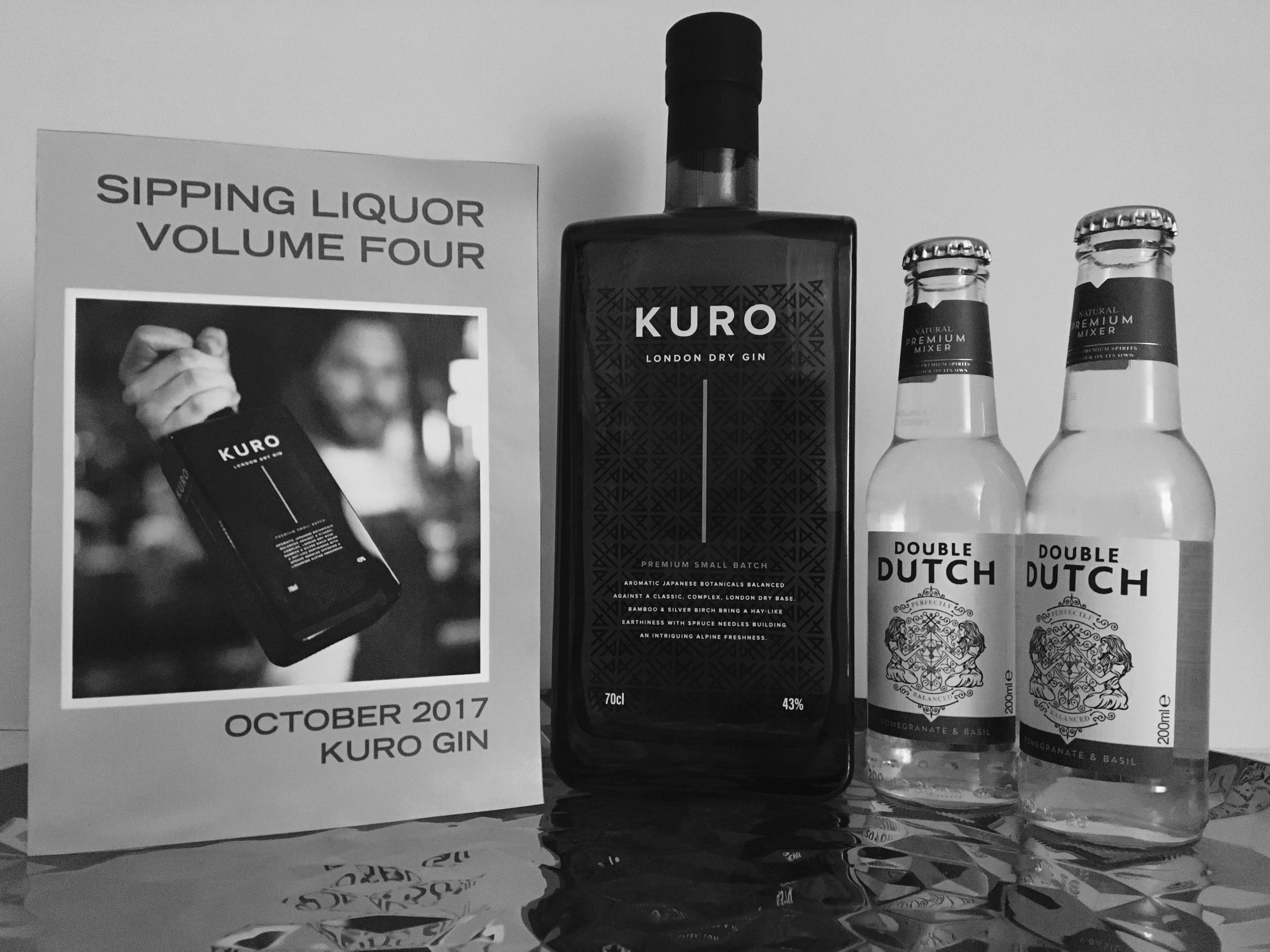 Sipping Liquor box with Kuro Gin and Double Dutch Gin