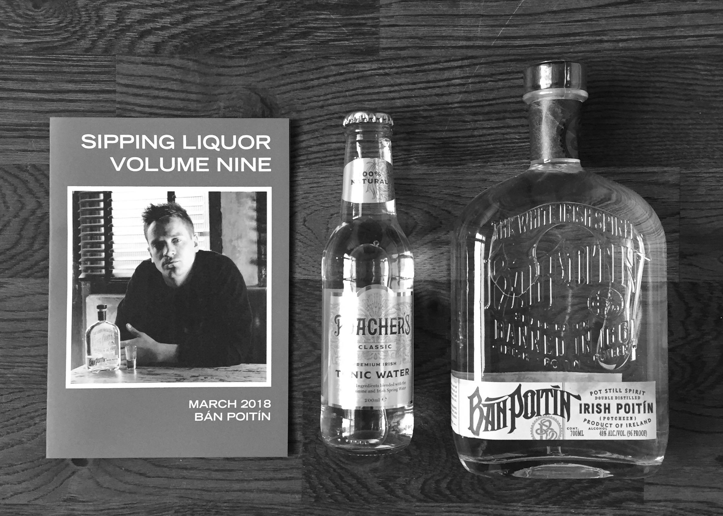 Sipping Liquor box with Ban Poitin and Poacher's Tonic