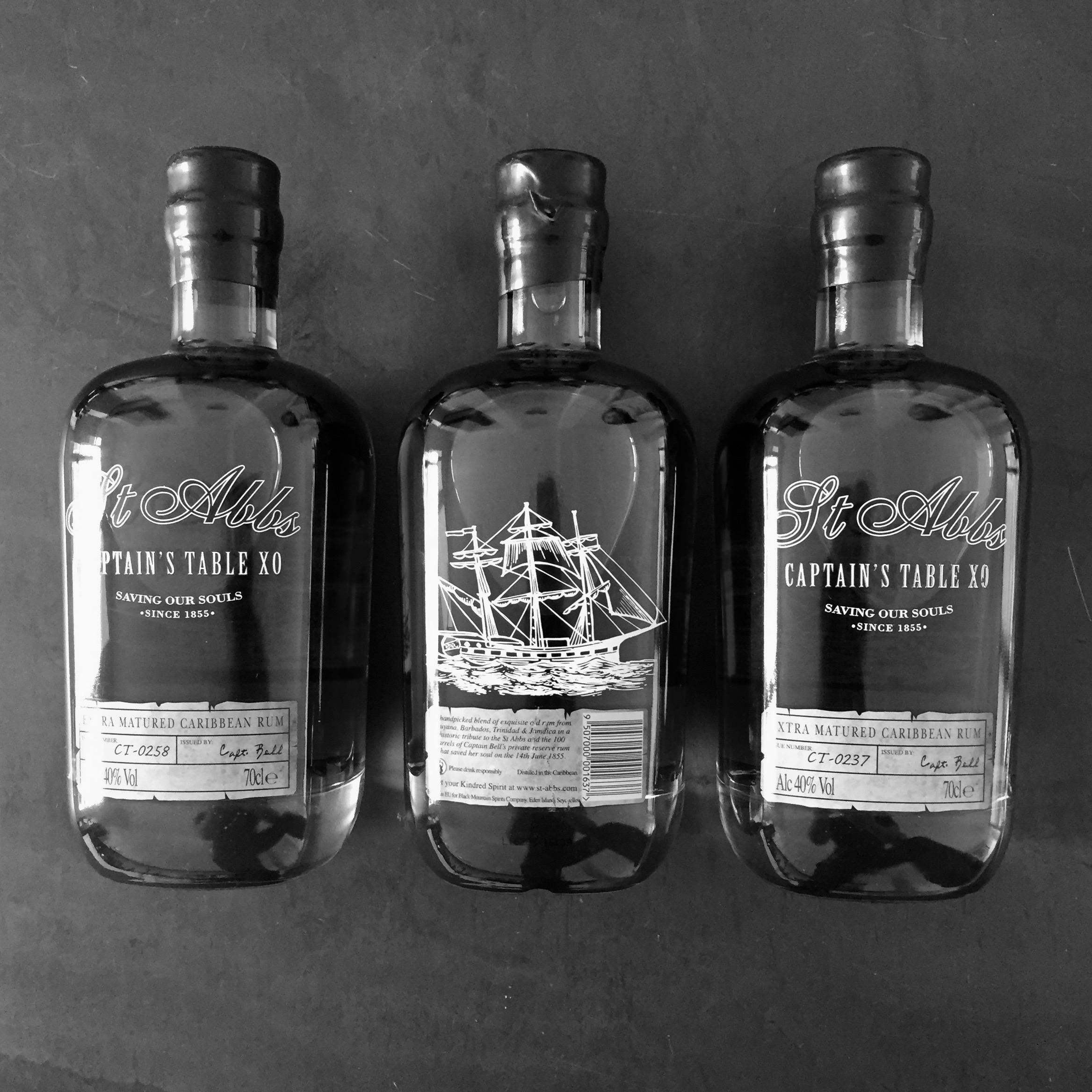 St Abbs Captain's Table XO Bottles