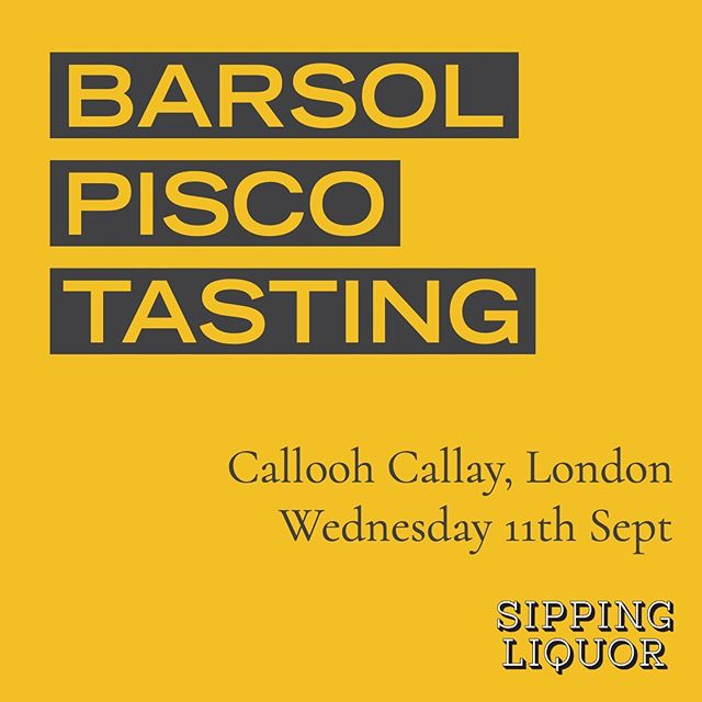 Want to learn more about Peruvian pisco? Join us at London's @calloohcallaybar on Wednesday 11th September to taste @barsolpisco's amazing range. Sign up at SippingLiquor.com/events  #sippingliquor #londonist #londonevents #whatson #whatsoninlondon #shoreditch #eastlondon #eastlondonevents #shoreditchfoodie #londonfoodie #londonlife #tasting #piscotasting #spiritstasting #whiskytasting #trysomethingnew #barsolpisco #piscosour