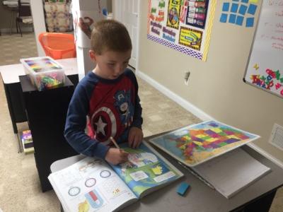 Mason, doing some map work.