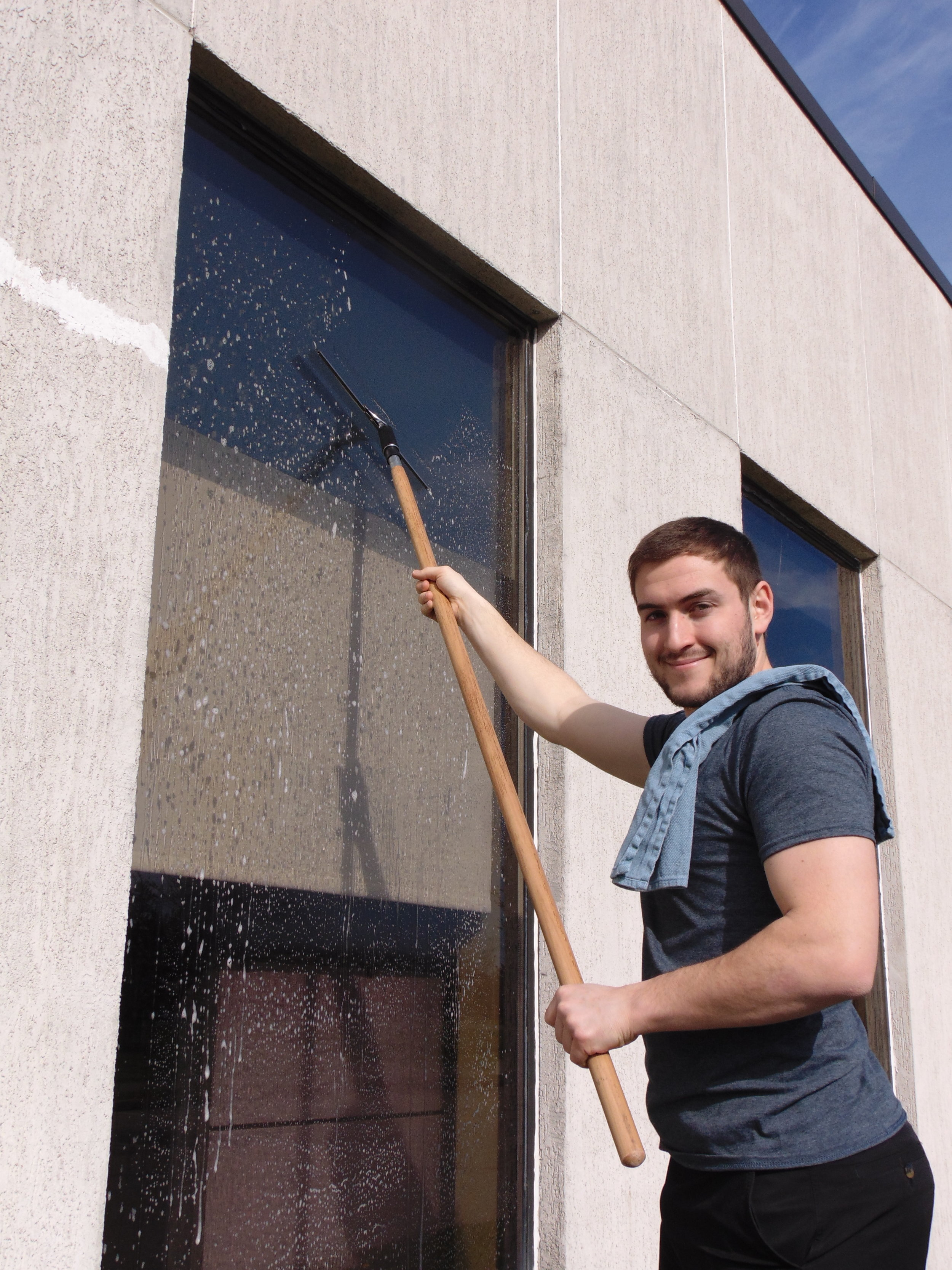 we provide exterior and interior window cleaning