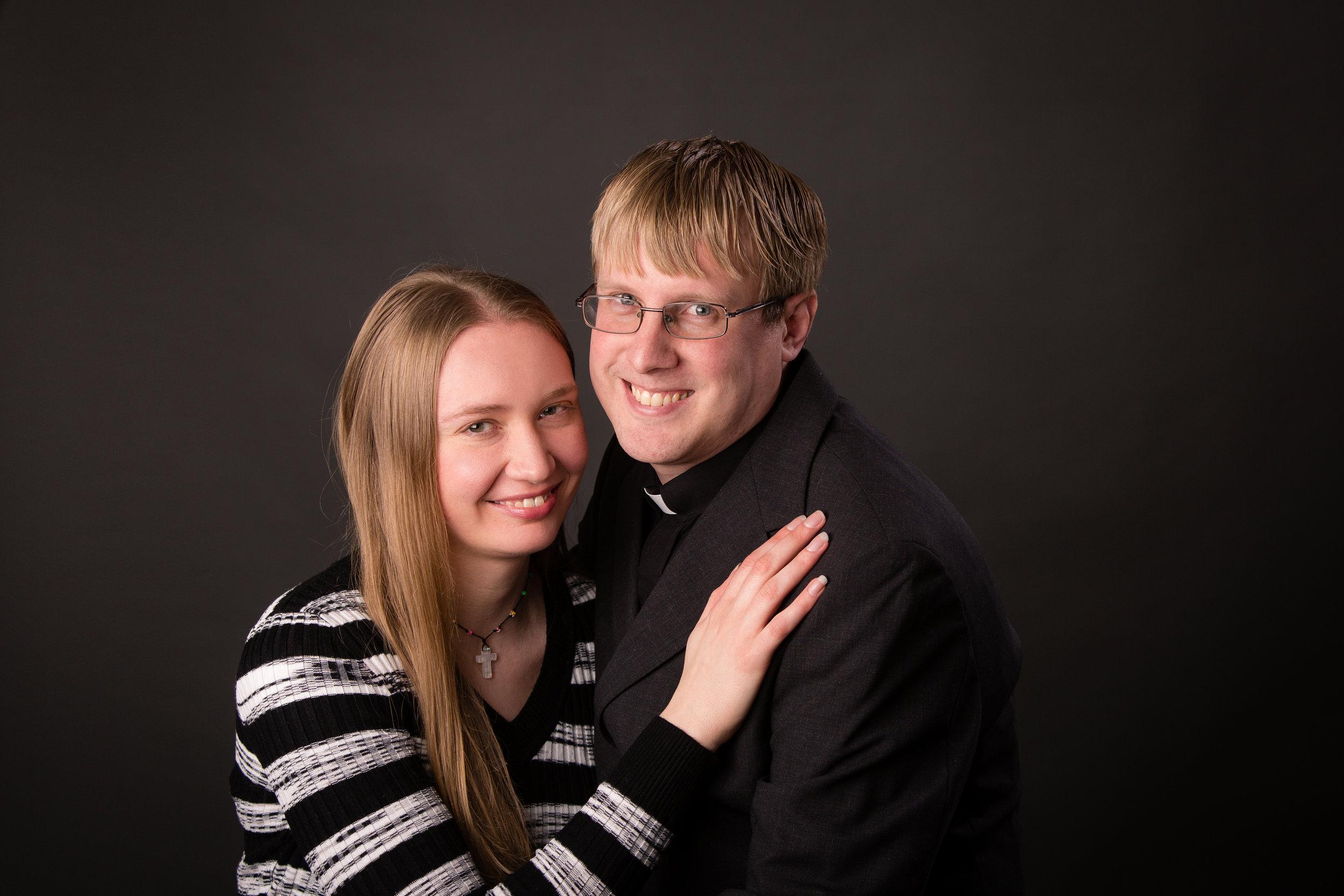 Pastor Stuenkel with his wife, Dana