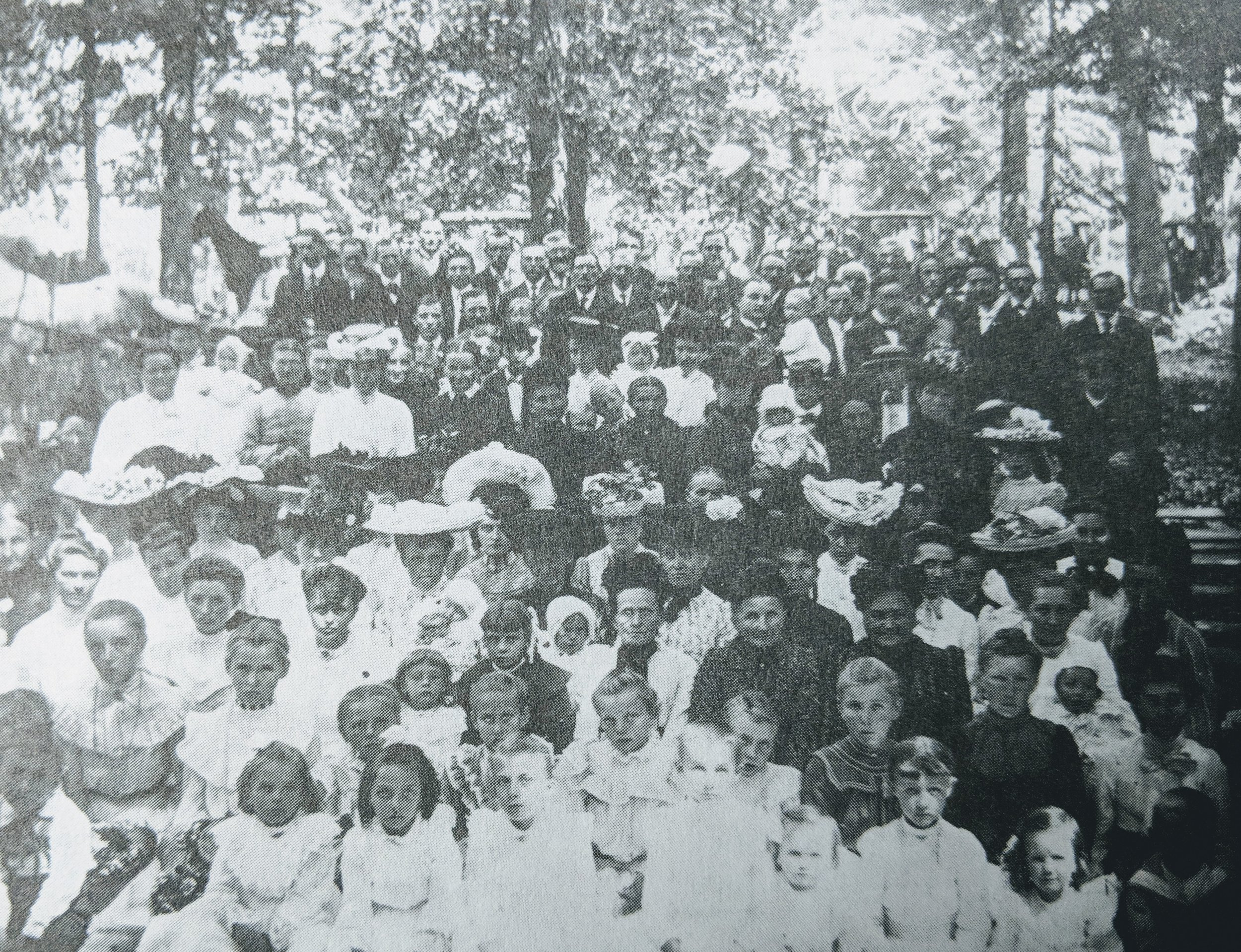 Mission Festival held in the woods in the early 1900's
