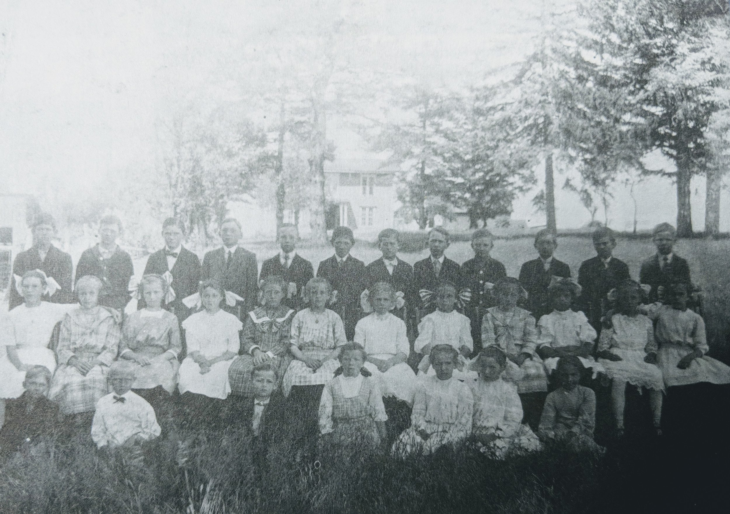 German Sumer School about 1913 - photo taken to the north of the church.