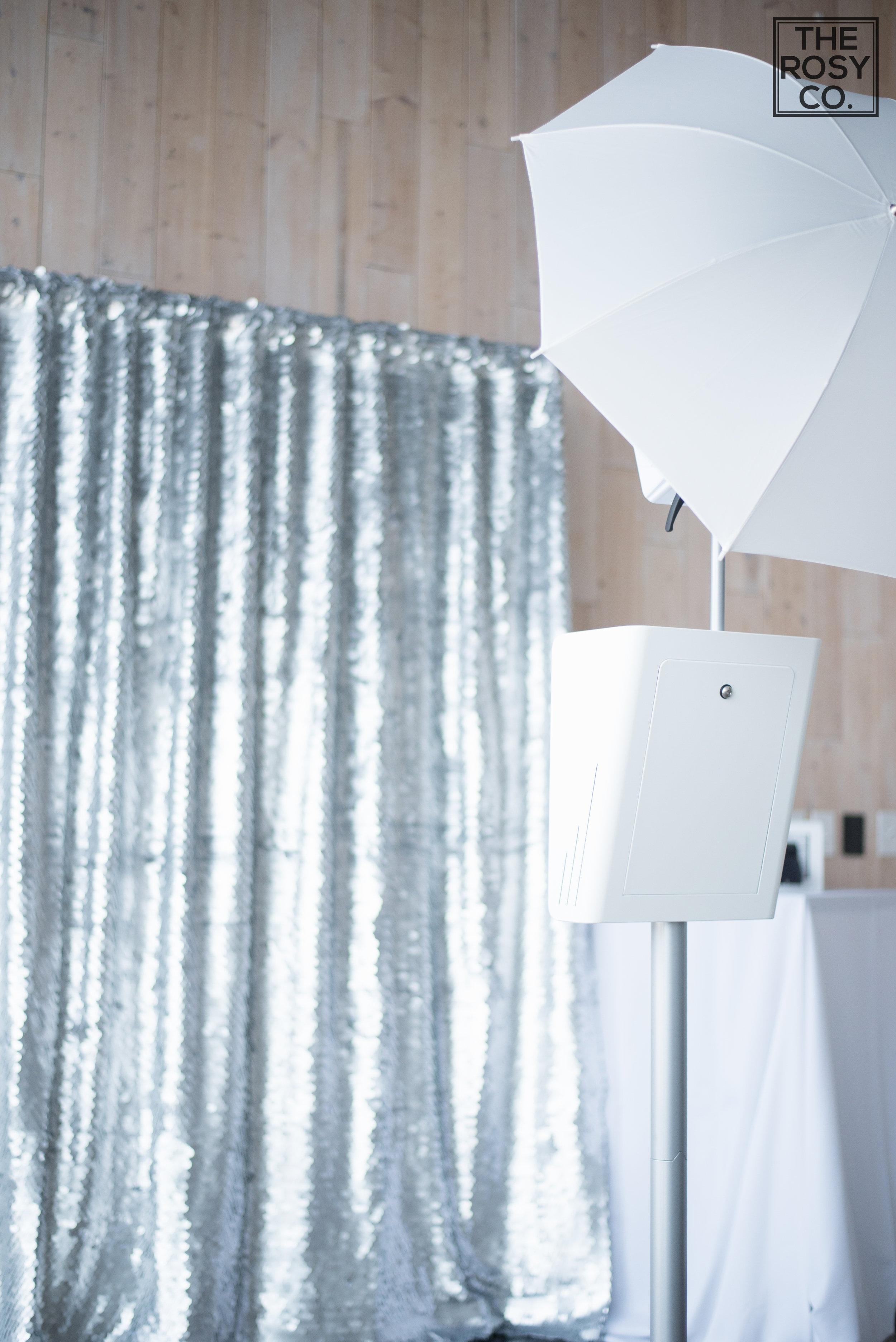 Modern Sequin Photobooth Backdrop Virginia Silver