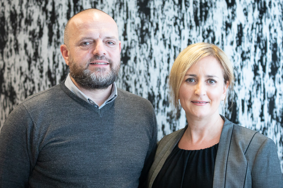 Russell Lowy and Janine Helfgott Lowy celebrating 20 years of marriage and 18 years running Indigo Interiors