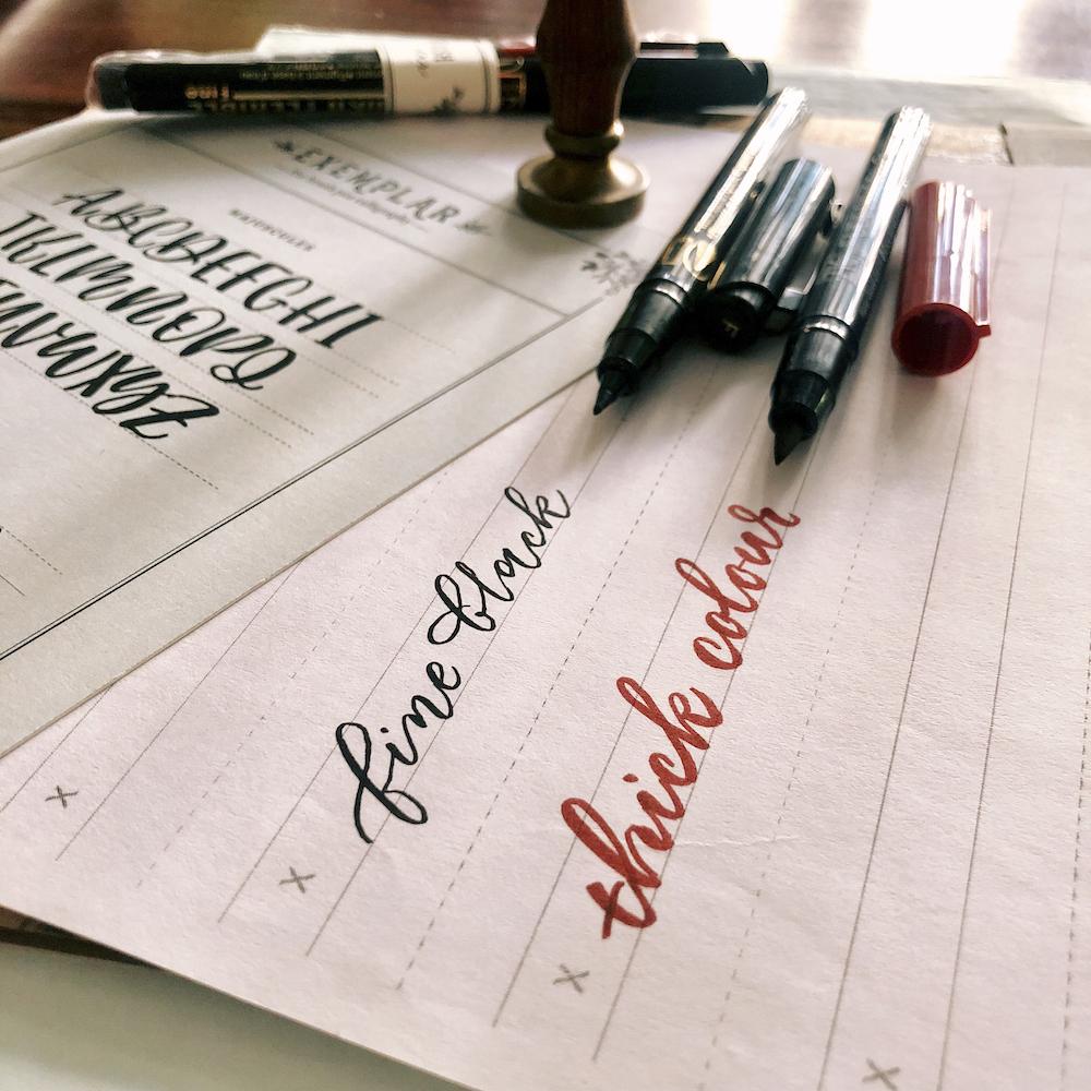 2 beginner-friendly brush pens