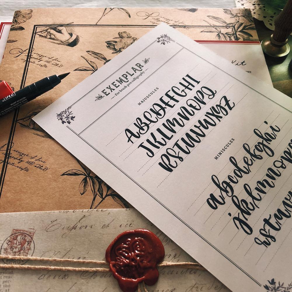 A handy exemplar (alphabets) sheet